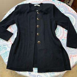 St. John black sweater cardigan